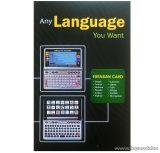 Euroasia card Btech V4 és a Btech V5 típusú szótárgépek bővítésére használható 12 nyelves kártya