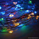 DekorTrend KDE 255 TÜNDÉRFÉNY DEKORFÜZÉR Beltéri elemes, LED-es fényfüzér, 5 m hosszú, 50 db (multi) színes LED-del, állófényű