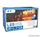 Design Dekor KDK 015 Kültéri toldható kontakt LED fényháló, 200 x 100 cm, 96 db melegfehér LED-del