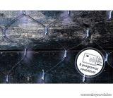 Design Dekor KDL 149 Kültéri LED-es fényháló, 200 x 200 cm, átlátszó kábellel, 192 db hideg fehér LED-del