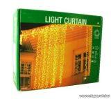 NORTEX KMN 040 kültéri toldható LED-es fényfüggöny, 100 x 200 cm, 180 db hideg fehér LED-del, zöld kábellel (118-153)