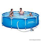 Bestway MAUI Fémvázas kerti medence vízforgatóval, 305 x 76 cm