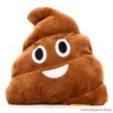HappyFace Nevetős kaki emoji plüss párna, díszpárna, 32 x 32 x 10 cm