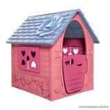 Első házam kerti játszóház, rózsaszín