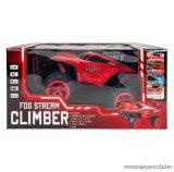Ledes Climber járgány kipufogófüsttel, távirányítós autó, piros