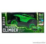 Ledes Climber járgány kipufogófüsttel, távirányítós autó, zöld