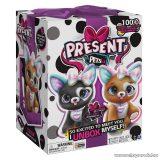 Present Pets Interaktív meglepetés plüss kutyus, lila
