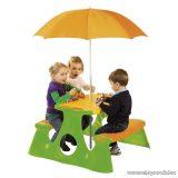 Műanyag gyermek piknik asztal napernyővel