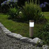 Garden of edeN 11265 LED-es napelemes kerti szolár lámpa, kőmintás, hidegfehér világítással, műanyag