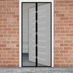 Mosható szúnyogháló függöny ajtóra, mágnessel záródó, 100 x 210 cm (mágneses szúnyogháló), fekete színű