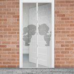 Mosható szúnyogháló függöny ajtóra, mágnessel záródó, 100 x 210 cm (mágneses szúnyogháló), Fiú + Lány mintás