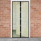 Mosható szúnyogháló függöny ajtóra, mágnessel záródó, 100 x 210 cm (mágneses szúnyogháló), virág mintás