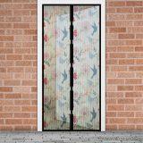 Mosható szúnyogháló függöny ajtóra, mágnessel záródó, 100 x 210 cm (mágneses szúnyogháló), madár mintás