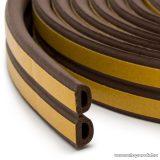 delight Öntapadós ajtó / ablak szigetelő, D profil, 6 m, barna, 9 mm (11599BR)