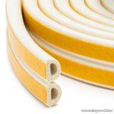 delight Öntapadós ajtó / ablak szigetelő, D profil, 6 m, fehér, 9 mm (11599WH)