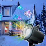 Kültéri LED projektor, mozgó színes party fényeffekt kivetítő (karácsony, halloween, party, tél), 12W (54916)