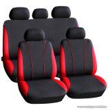 Carguard 55670RD Autós üléshuzat szett, 9 db-os, piros / fekete (HSA002)