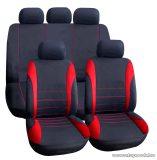 Carguard 55671RD Autós üléshuzat szett, 9 db-os, piros / fekete (HSA007)