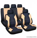 Carguard 55672DR Autós üléshuzat szett, 9 db-os, drapp / fekete (HSA008)