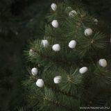 Design Dekor 55971B Beltéri fenyőfa és fenyő girland dísz, Hógolyó girland, 280 cm