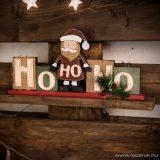 Karácsonyi polcdísz mikulással, 32 x 15,2 cm (55995A)