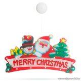 Beltéri MERRY CHRISTMAS feliratú ablakdísz, 20 db meleg fehér LED izzóval (56530A)