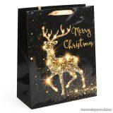 Karácsonyi ajándéktasak, fekete-arany (58070B-2)