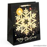 Karácsonyi ajándéktasak, fekete-arany (58070B-3)