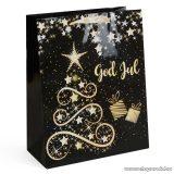 Karácsonyi ajándéktasak, fekete-arany (58070B-4)