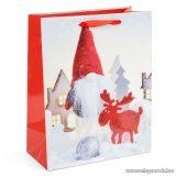 Karácsonyi ajándéktasak, karácsonyi manó design (58074B-1)