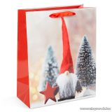 Karácsonyi ajándéktasak, karácsonyi manó design (58074B-3)