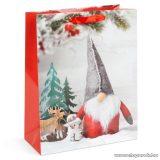 Karácsonyi ajándéktasak, karácsonyi manó design (58074B-4)