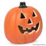 Halloweeni LED-es tök, töklámpás, 32 x 30 cm