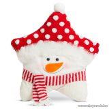 Karácsonyi 3D díszpárna, hóember design, 35 x 42 cm (58262B)