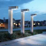 Napelemes LED-es keri szolár lámpa, hidegfehér világítással, szálcsiszolt - fém kivitel (11264)
