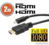 neXus Micro HDMI kábel aranyozott csatlakozóval, 2 m (20317)