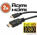 neXus Mini HDMI kábel aranyozott csatlakozóval, 2 m (20318)