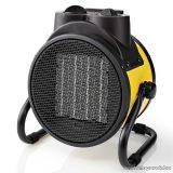 Nedis Ipari, hordozható ventilátoros fém házas fűtőtest, hősugárzó, sárga, 2000 W (HTIF20FYW)