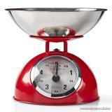 Nedis Retro konyhai mérleg, rozsdamentes acél tállal, piros (KASC110RD)