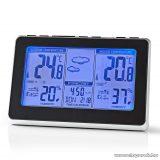 Nedis Időjárás állomás és páratartalom mérő ébresztőóra funkcióval (WEST400BK)