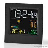 Nedis Időjárás állomás és páratartalom mérő ébresztőóra funkcióval (WEST404BK)