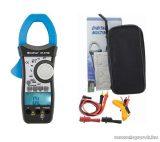 HOLDPEAK 870B Digitális lakatfogó, multiméter, 2 kijelzős, VDC, VAC, AAC, ellenállás, kapacitás, és hőmérséklet mérőműszer
