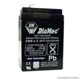 DiaMec 6V, 4,5Ah Zselés, ólom akkumulátor, gondozásmentes szünetmentes akku