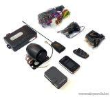EASYCAR E7III-A Autóriasztó, 1 db LCD + 1 db kiegészítő távirányítóval, sziréna, rezgésérzékelő, antenna, USB funkcióval