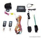 STEEL MATE 838X Autóriasztó FSK ugrókódos rendszerrel, egyirányú távirányítóval