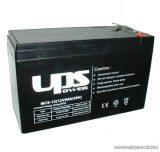 UPS Power 12V, 9Ah F2, zselés, ólom akkumulátor, gondozásmentes szünetmentes akku, széles saru