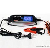 Global HB-ZN04 Okos, automata akkumulátortöltő (akkutöltő), 6V - 12V, 4A, 60W