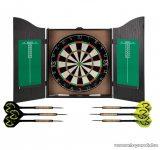 XQ Max Home Darts Center Fali darts szekrény, szizál darts tábla, fa szekrénnyel, 6 dart szettel