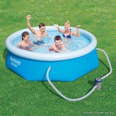 Bestway KRÉTA EASY puhafalú kerti medence vízforgatóval és védőtakaróval, 244 x 66 cm