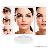 Rio Beauty MMFS 360° Forgatható sminktükör, kozmetikai tükör extra nagy felülettel, szalagos LED világítással